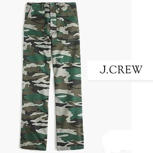 J Crew Camouflage Foundry button fly Camo pant 6